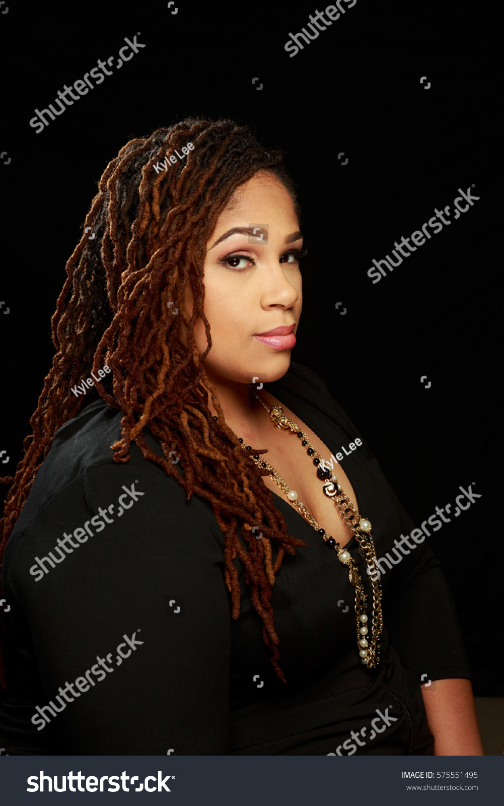 royalty-free plus size african american bbw woman in… #575551495