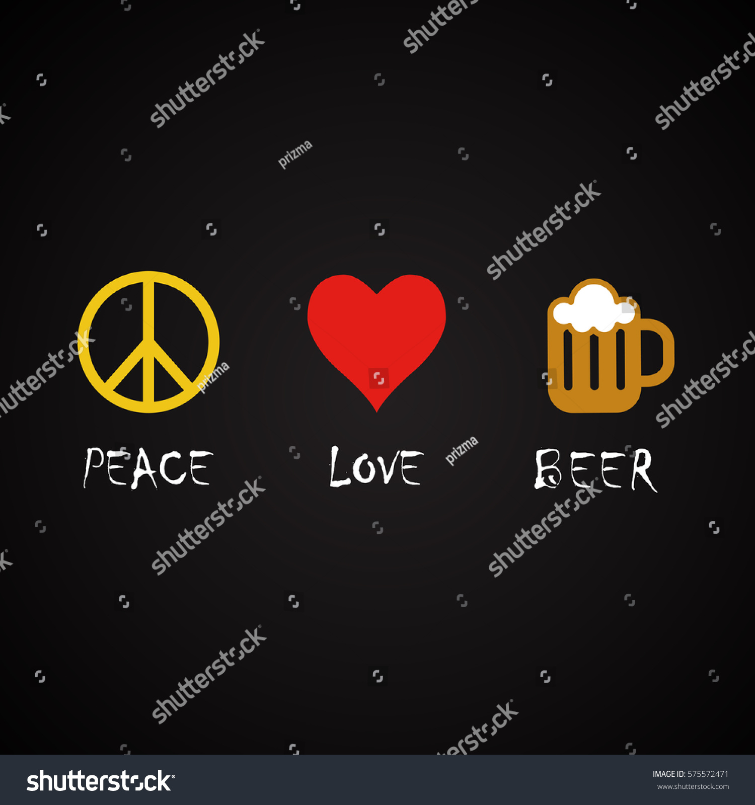 Funny Beer Quotes | Peace Love Beer Funny Alcohol Quotes Stock Vector Royalty Free