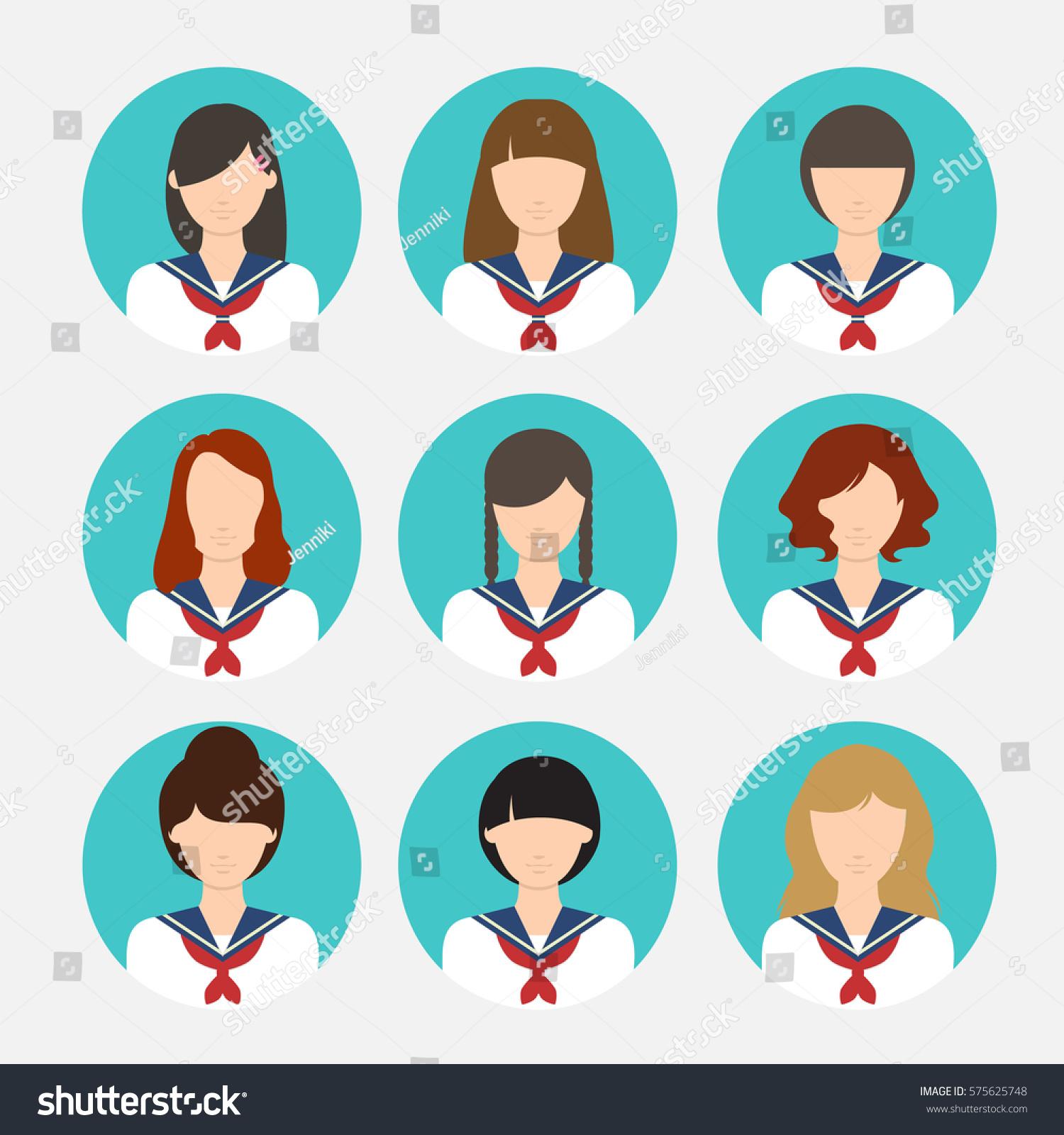 avatar female japanese student asian uniform stock vector hd rh shutterstock com japanese vector designs japanese victories ww2