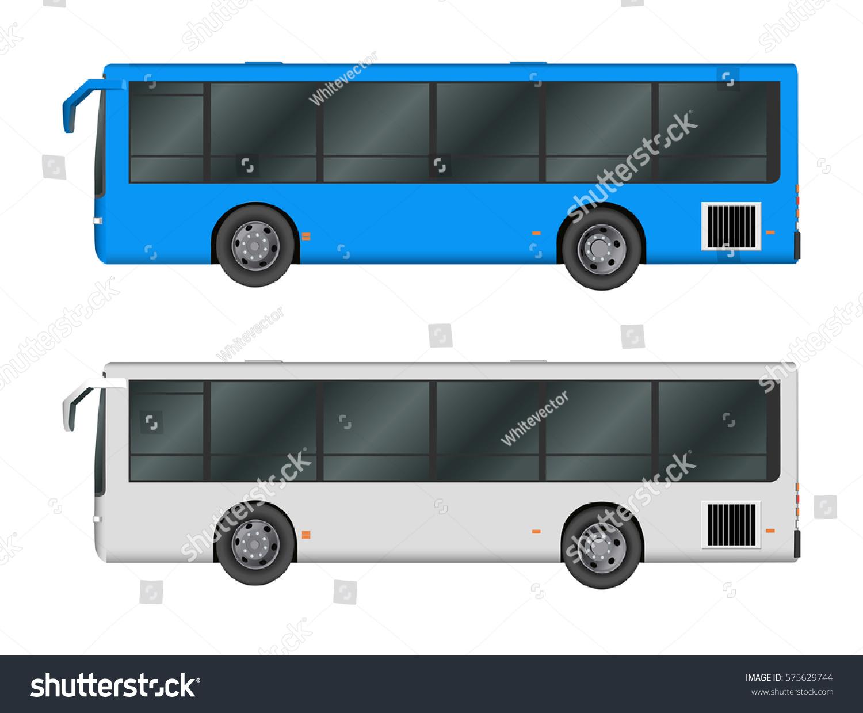 Tour Bus Template | Set White Blue City Bus Template Stock Vector 575629744 Shutterstock