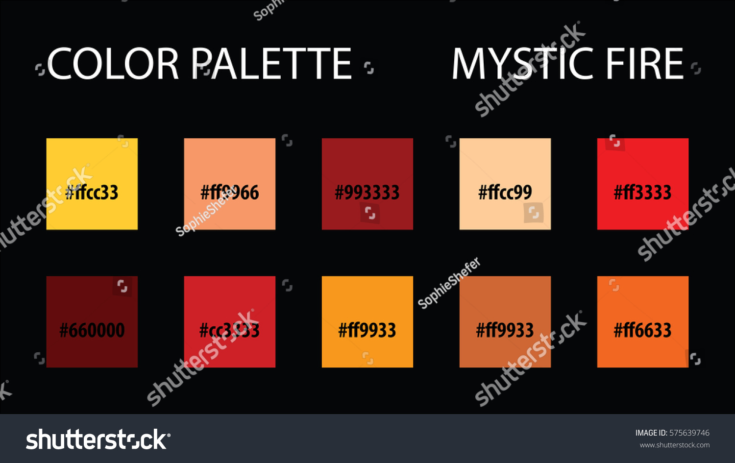 Color Palette Code Vector Mix Swatches Stock Vector 575639746 ...