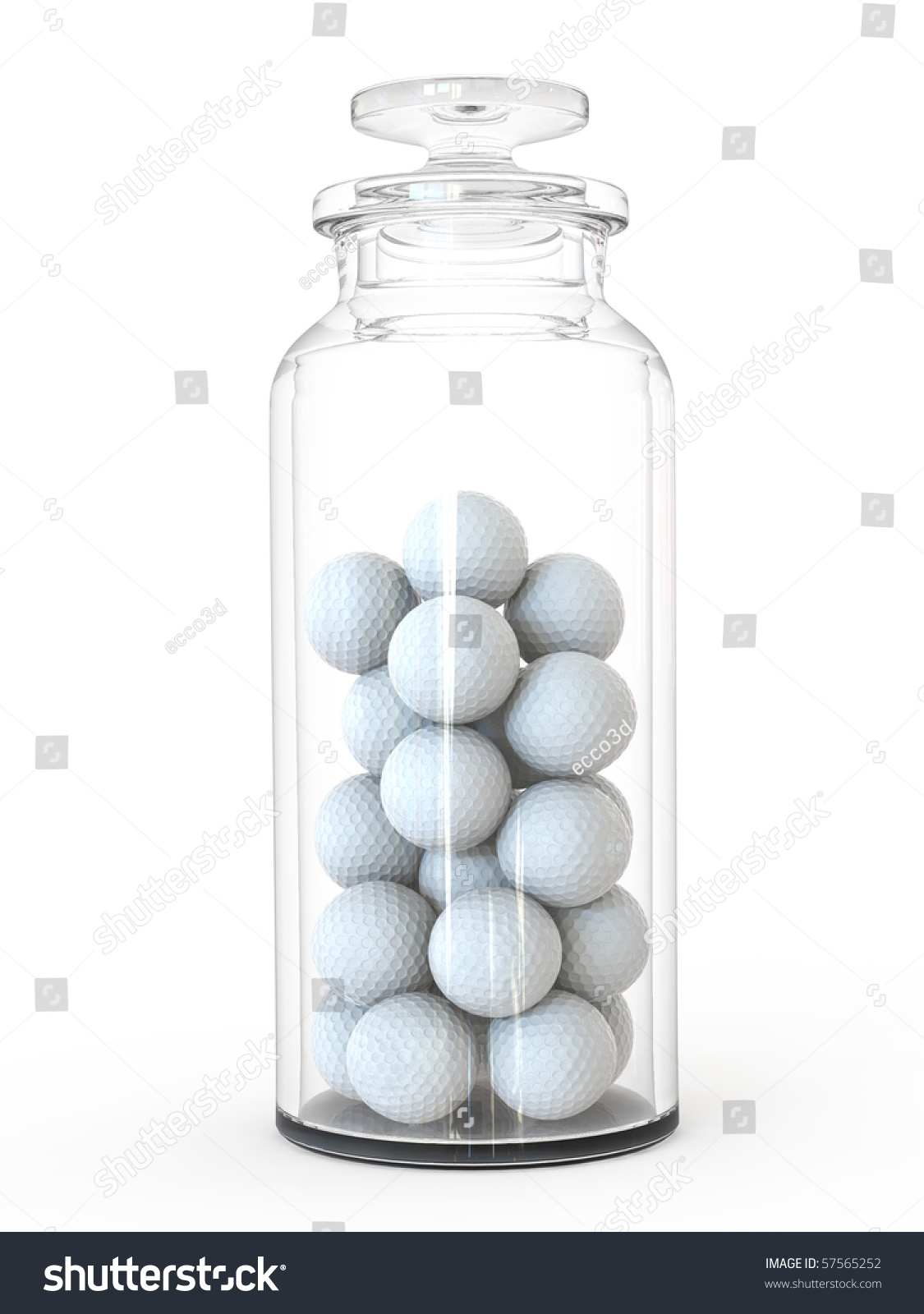 jar golf balls stock illustration 57565252 shutterstock