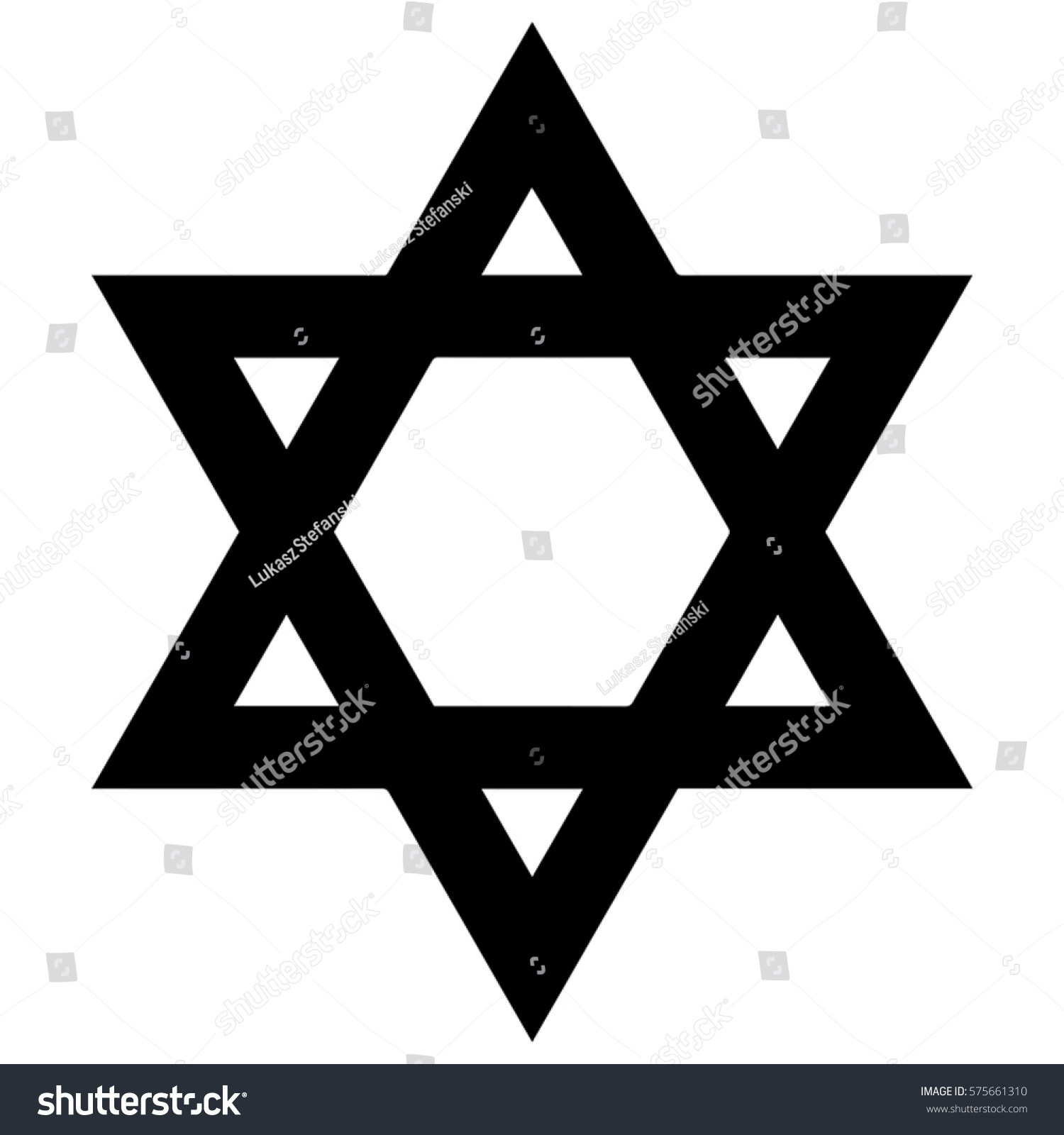 religious sign judaism star david vector stock vector  star of david vector format