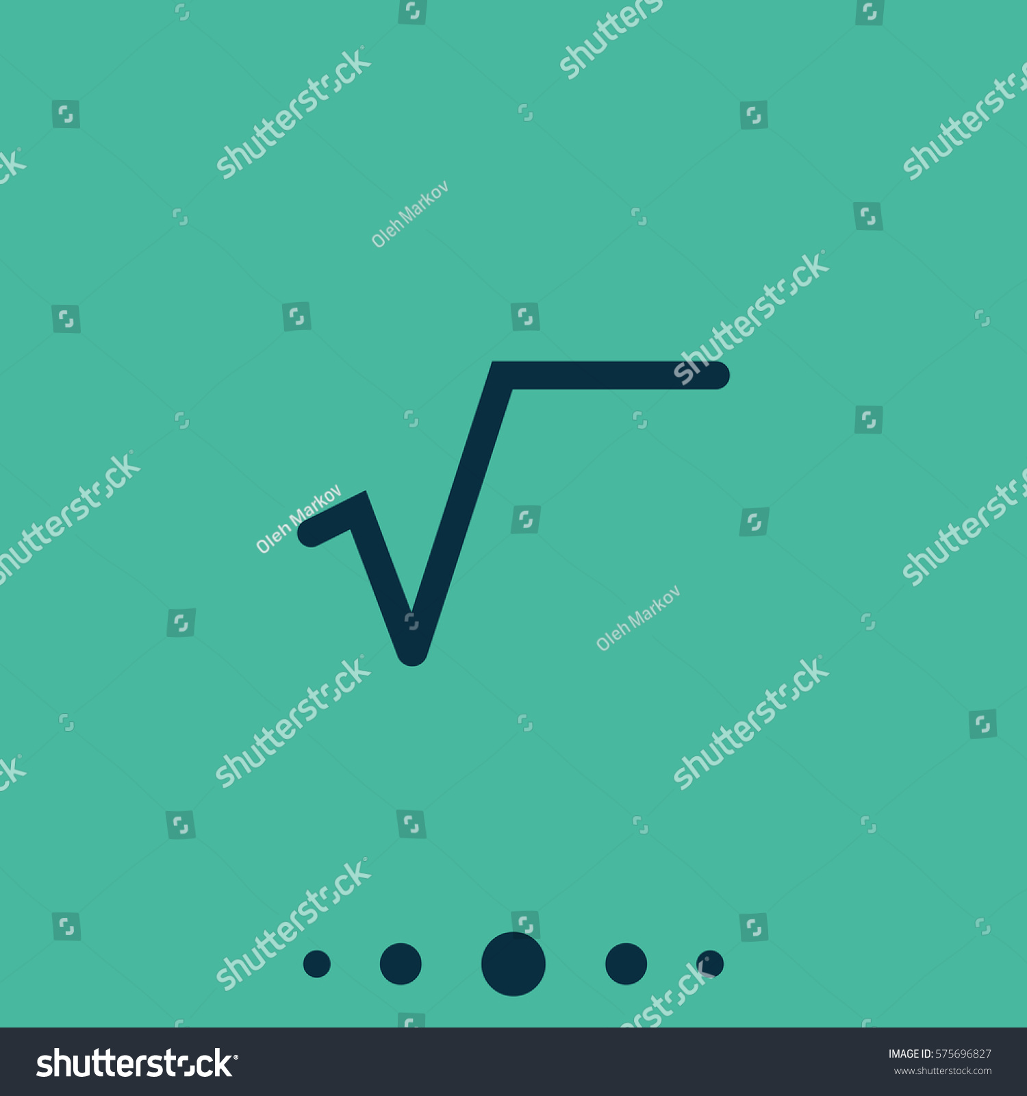 Square root symbol flat icon stock illustration 575696827 shutterstock square root symbol flat icon buycottarizona Images