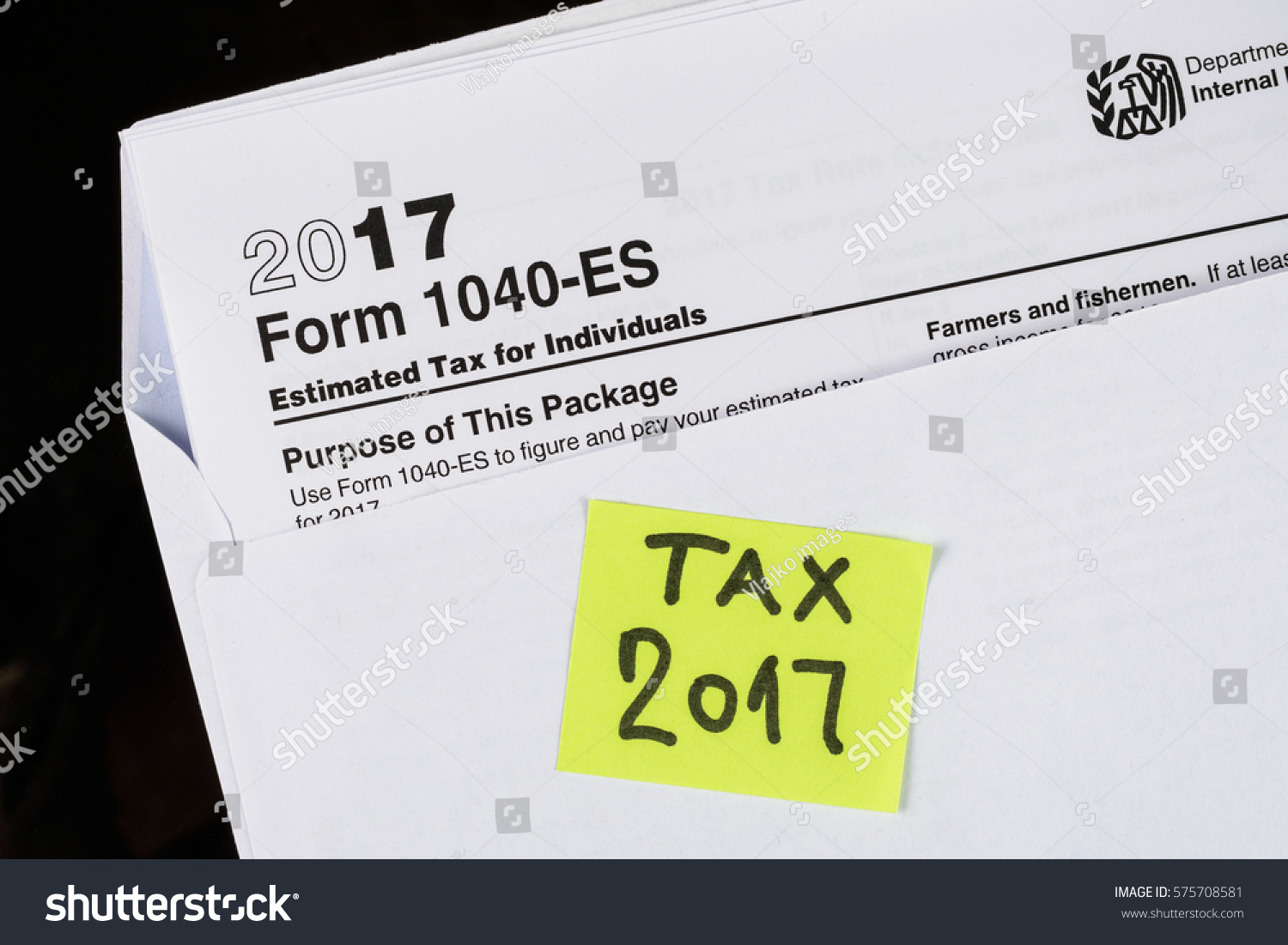 Form 1040es estimated tax individuals united stock photo 575708581 form 1040 es estimated tax for individuals united states tax forms 20162017 falaconquin