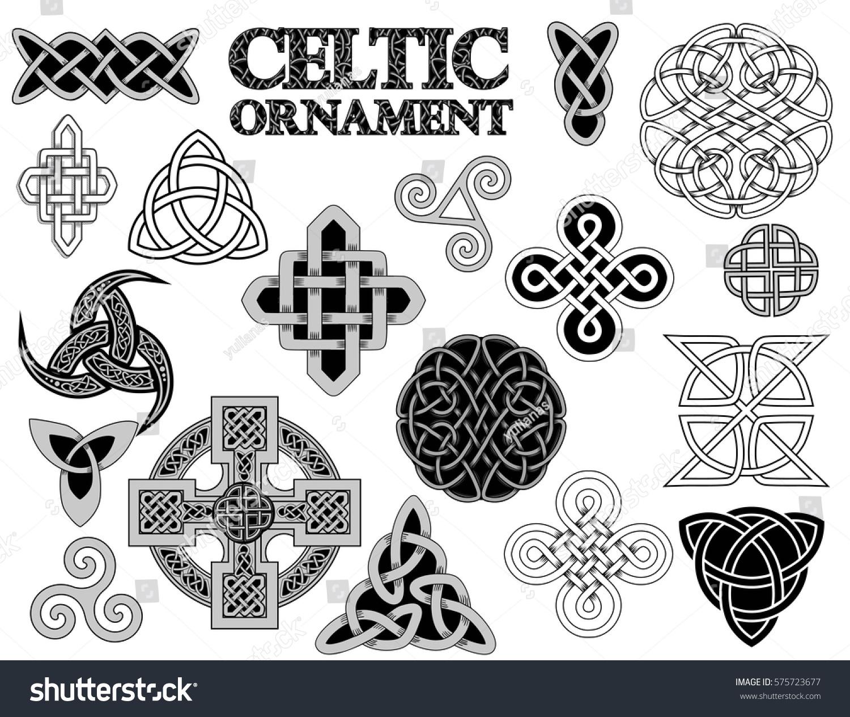 set ancient pagan scandinavian sacred symbols stock vector
