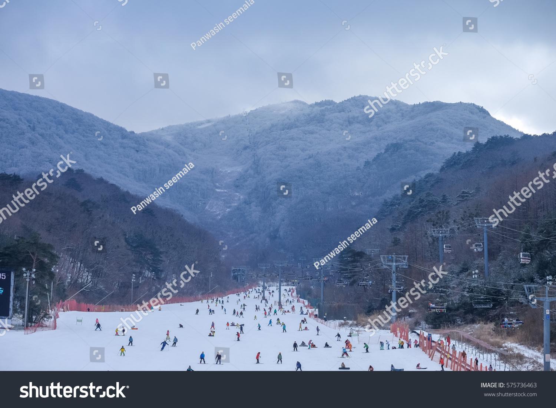 muju ski resort south korea 30 stock photo (edit now) 575736463
