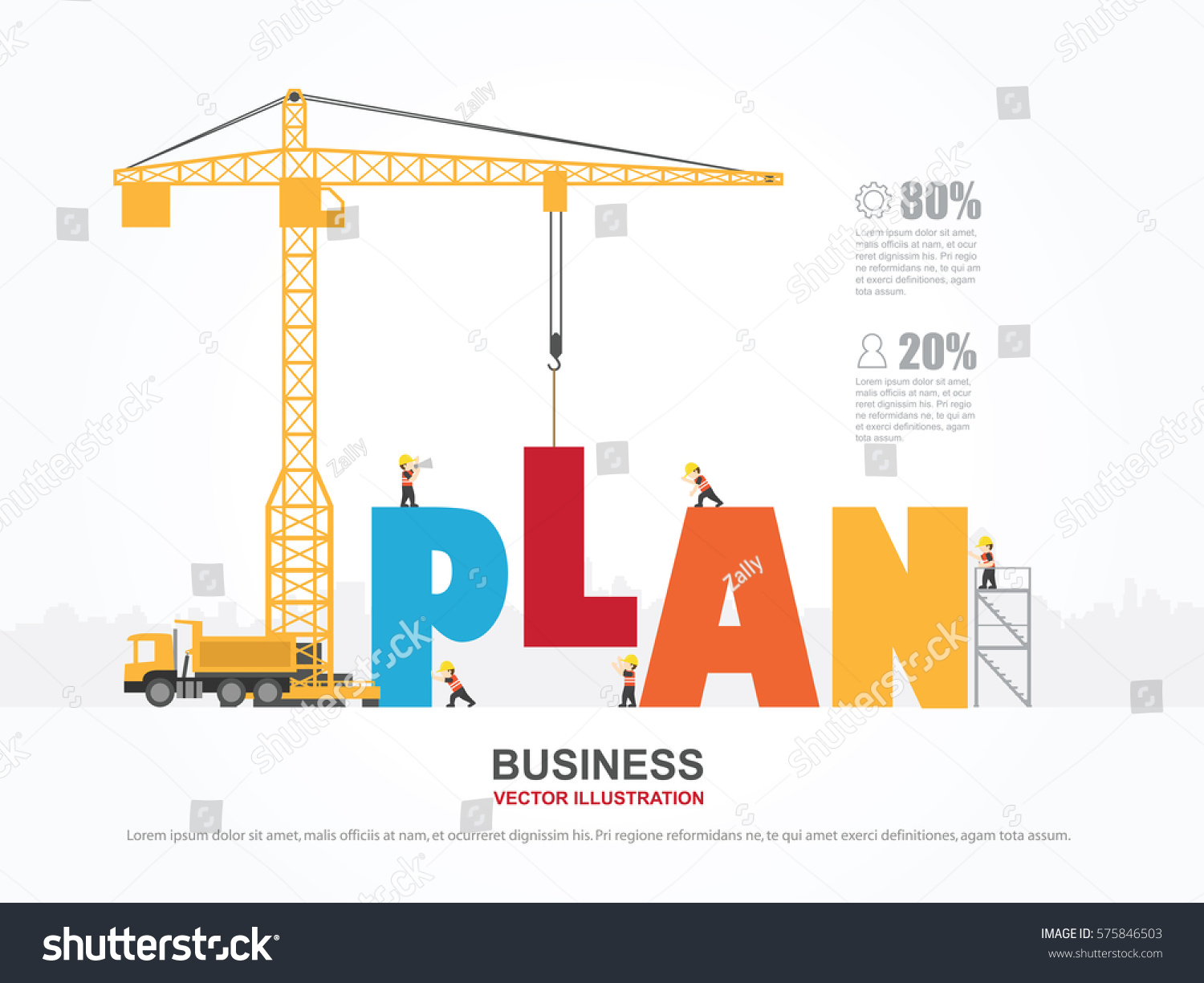Crane Template. crane increasing graph infographic template vector ...