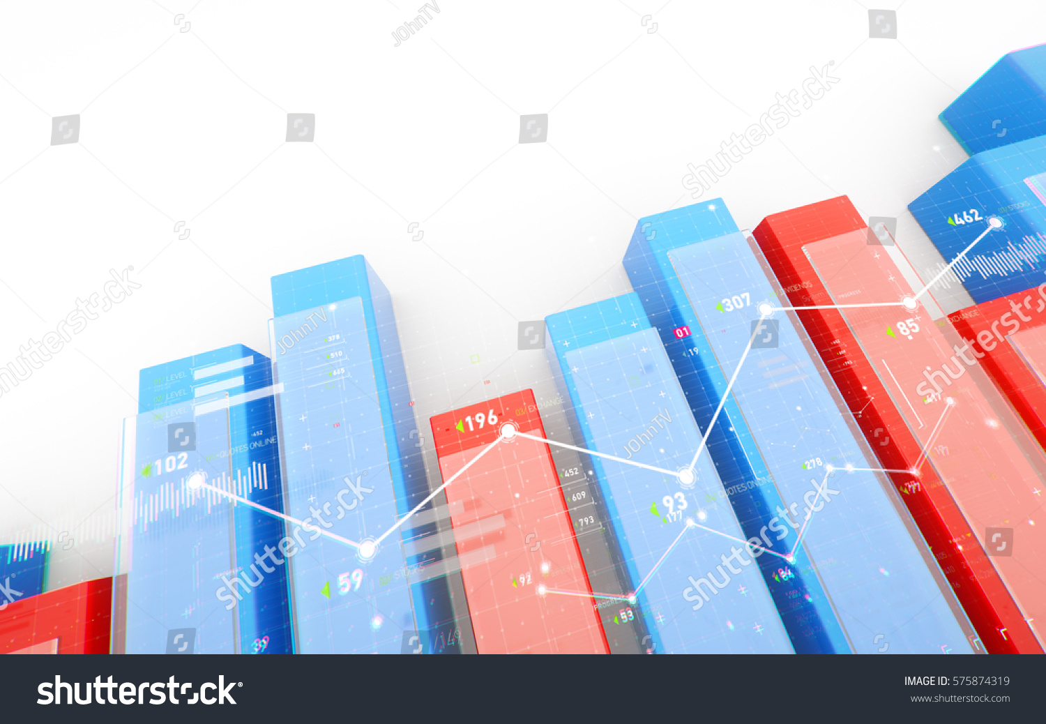 Financial Business Report Background Network Diagram Stock