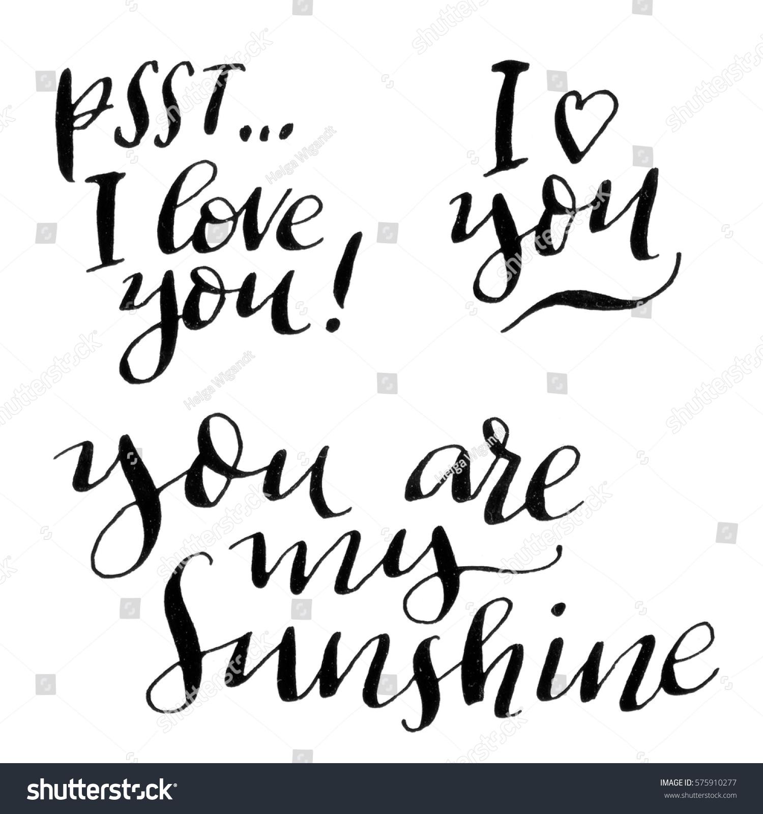 You my sunshine psst love stock illustration