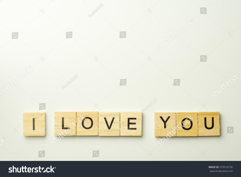 Text Wooden Blocks Spelling Word Love Stock Photo ...