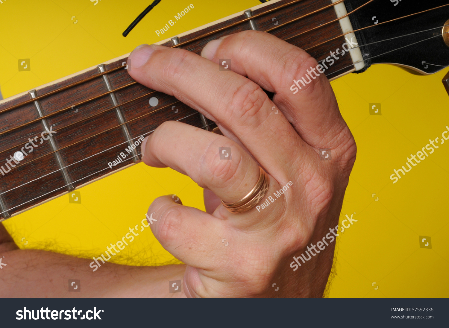 Finger Position G Major Guitar Chord Stock Photo Edit Now 57592336
