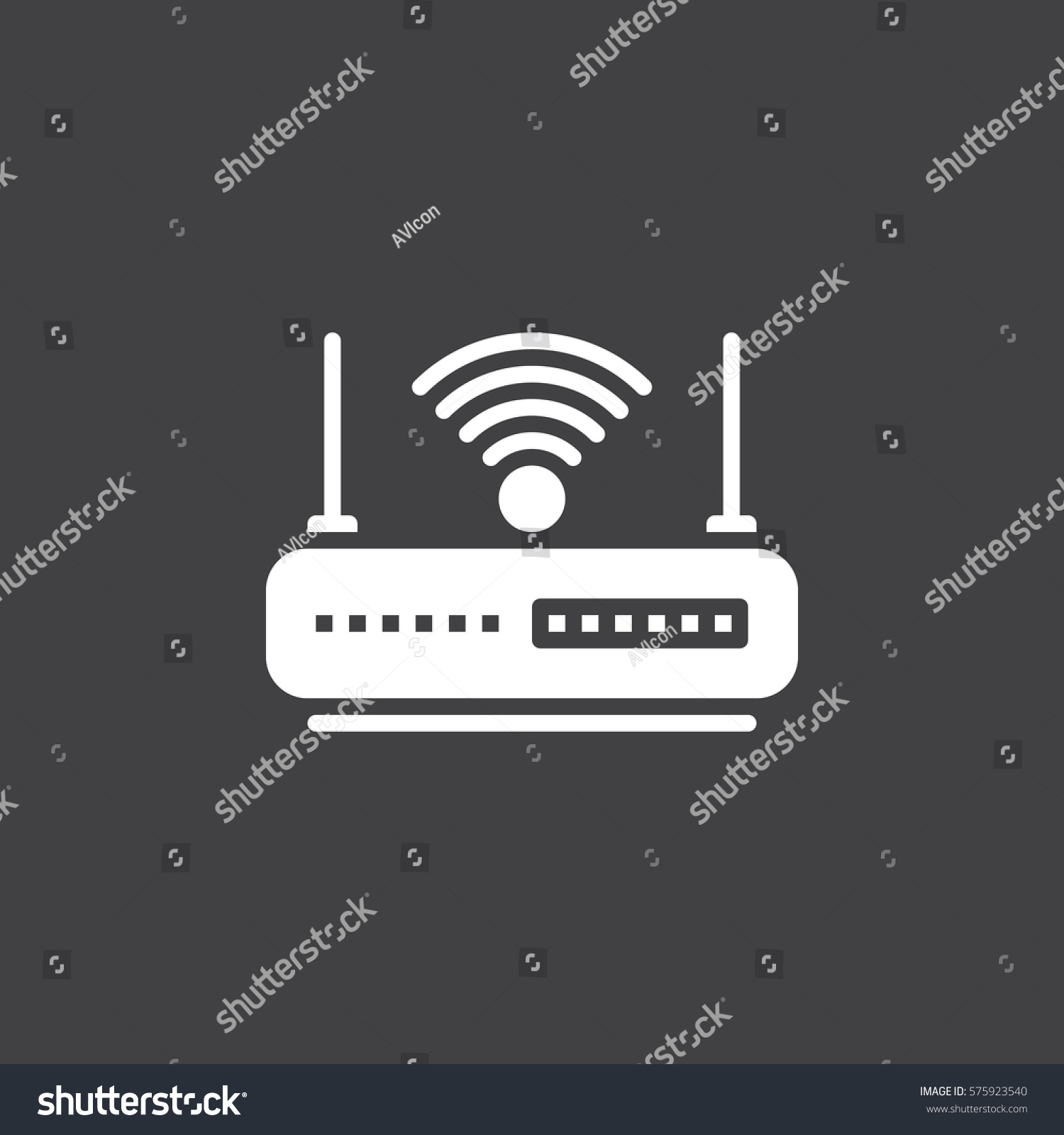 Wifi Router Icon Vector Filled Flat Stock Vector Royalty Free