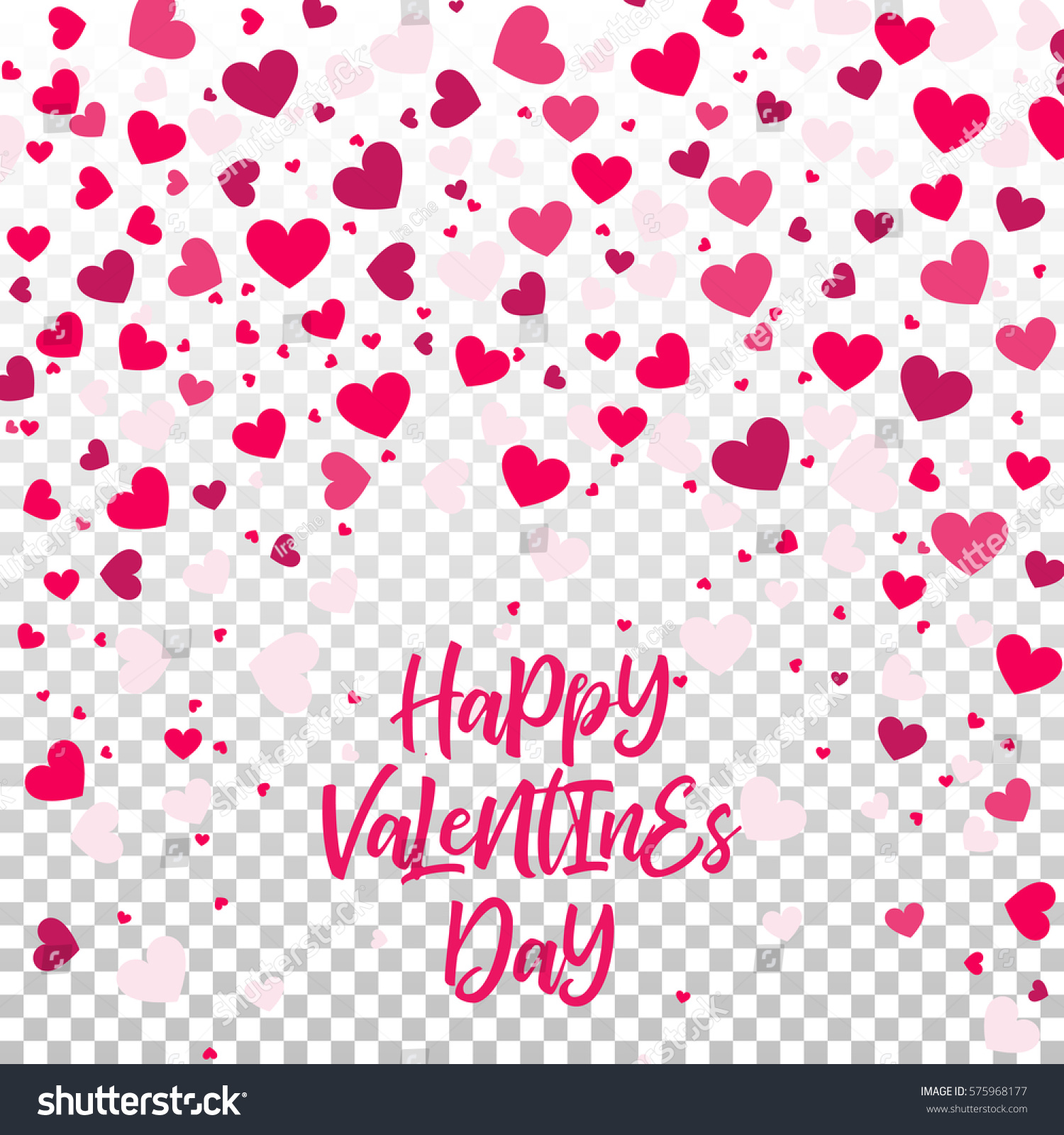colorful background with heart confetti valentines day greeting