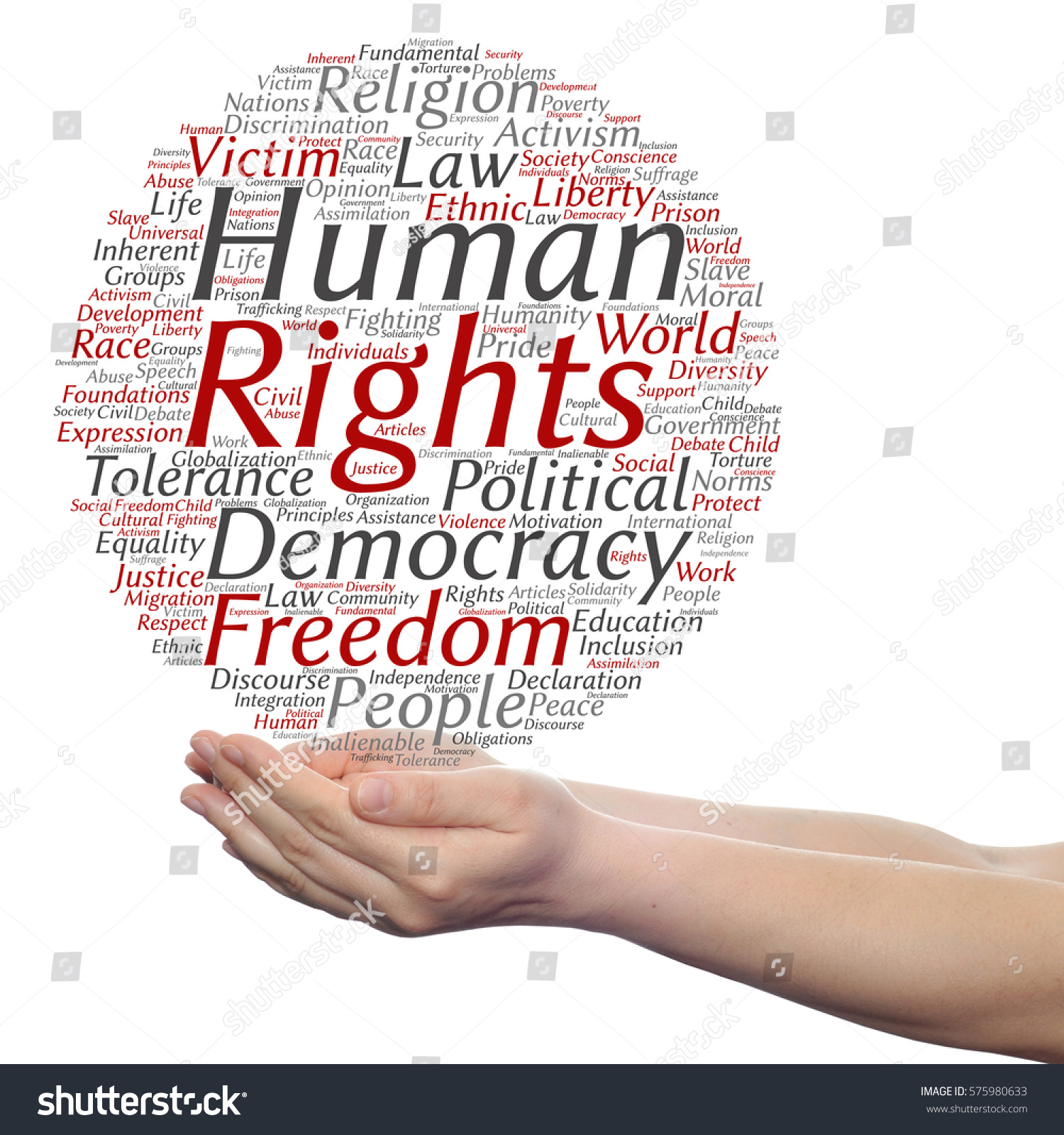 Concept Conceptual Human Rights Political Freedom Stock