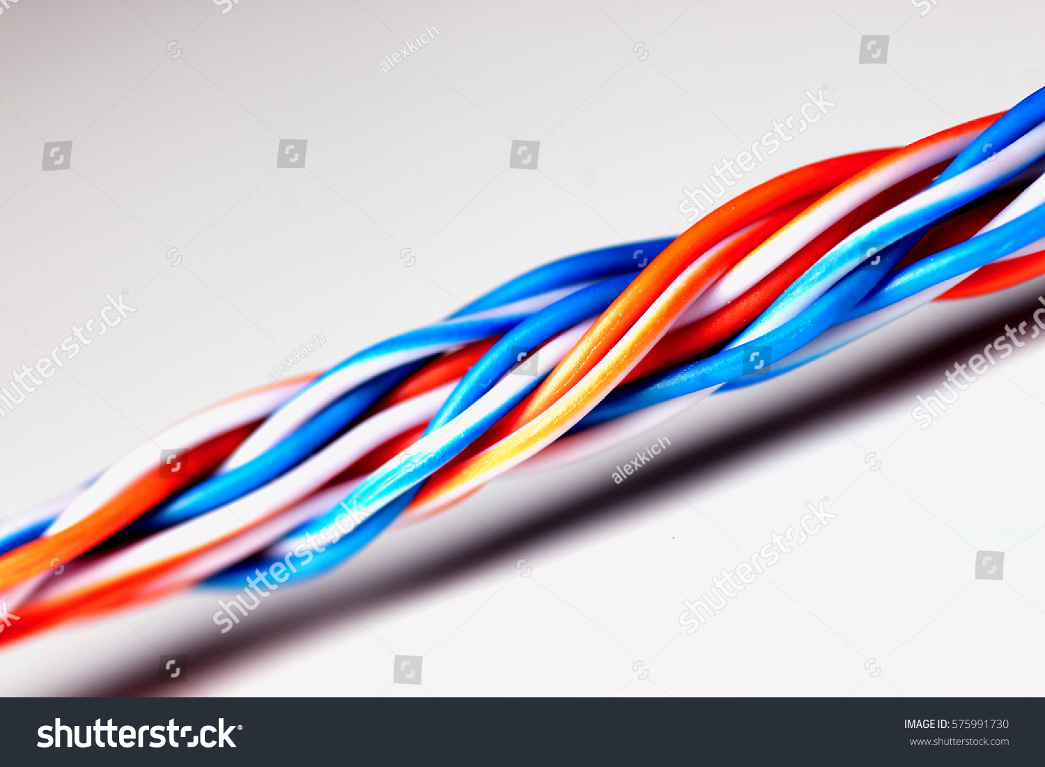 Macro Color Braided Wire Stock Photo & Image (Royalty-Free ...