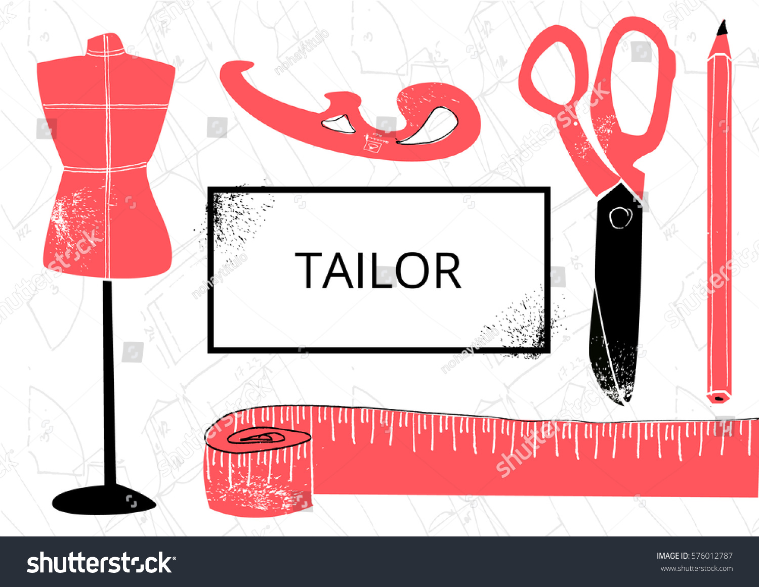 Tailor Business Card Vector Illustration EPS 10 Stock Vector ...