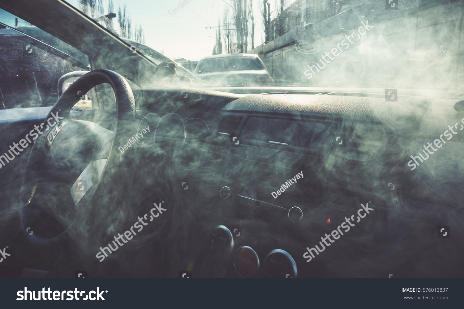 car interior smoke vapour vape inside stock photo 576013837 shutterstock. Black Bedroom Furniture Sets. Home Design Ideas
