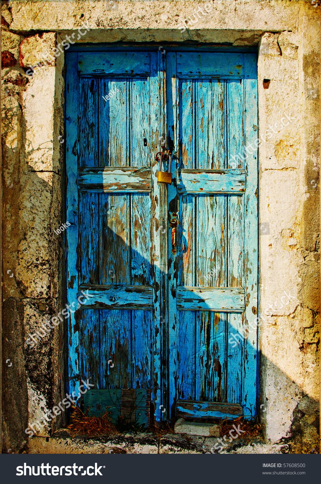 Old Doors Greek Islands Stock Photo 57608500 Shutterstock