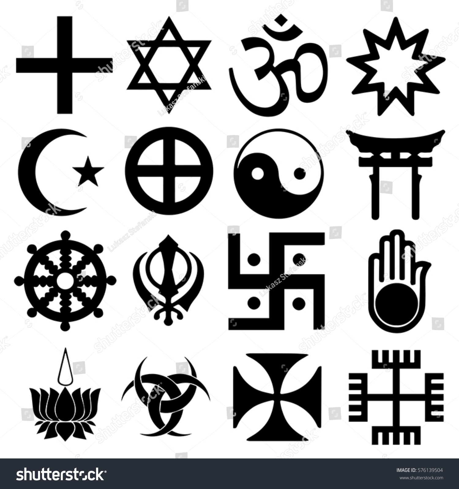 Religious signs others mixed symbols vector stock vector 576139504 religious signs others and mixed symbols vector format biocorpaavc