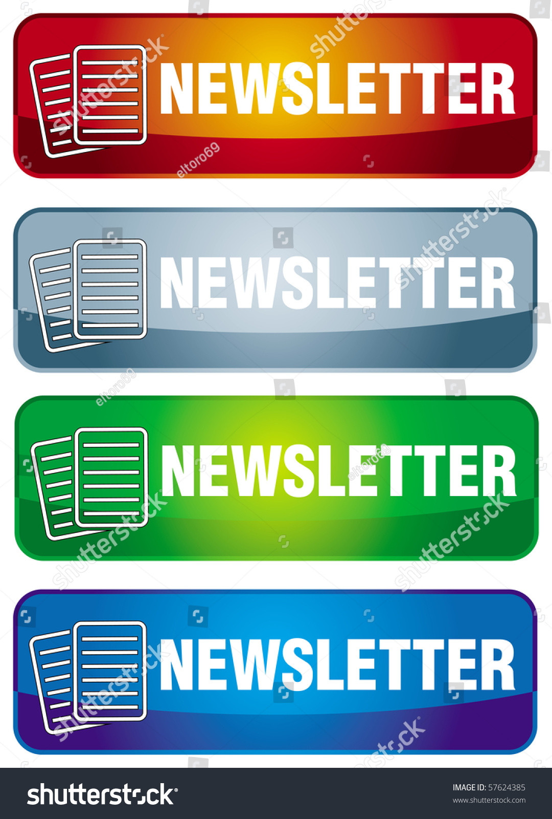 Newsletter Icon Abstract Letter Symbol Text Stock Vector Royalty