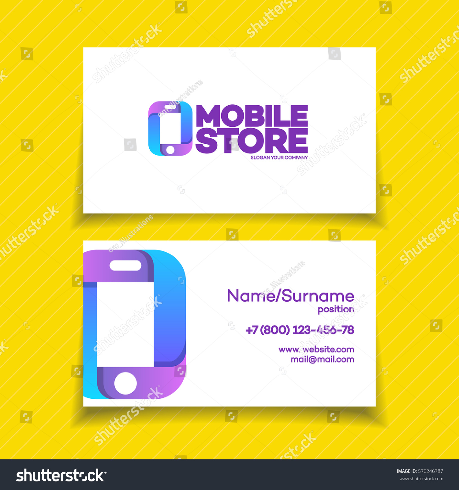 Mobile Store Business Card Design Template Stock Vector (2018 ...