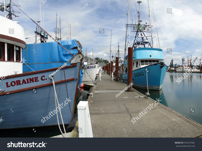 Newport oregon may 29 fishing boats stock photo 576275581 for Newport oregon fishing