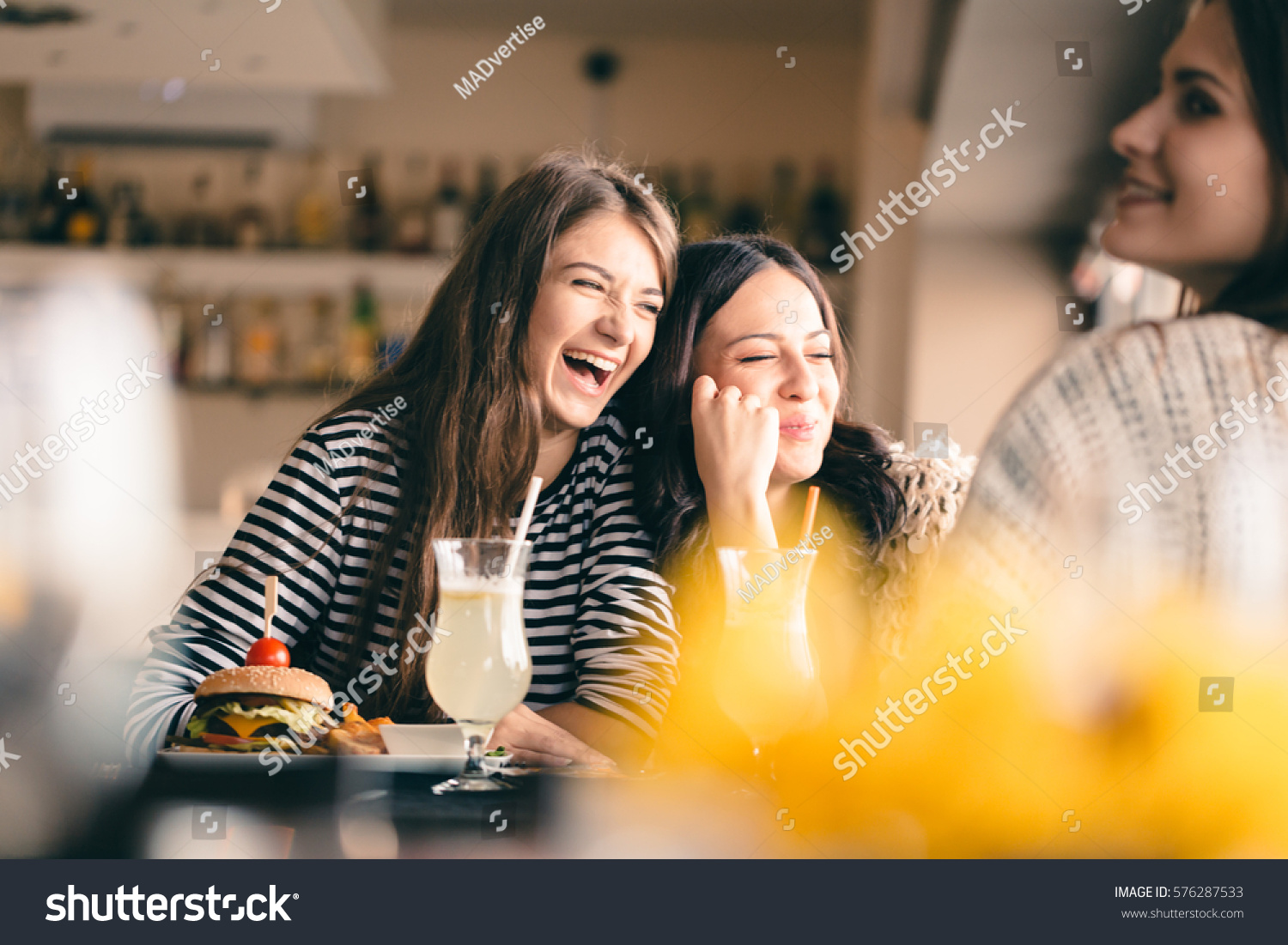 Old Friends Meeting After Long Time Stock Photo 576287533