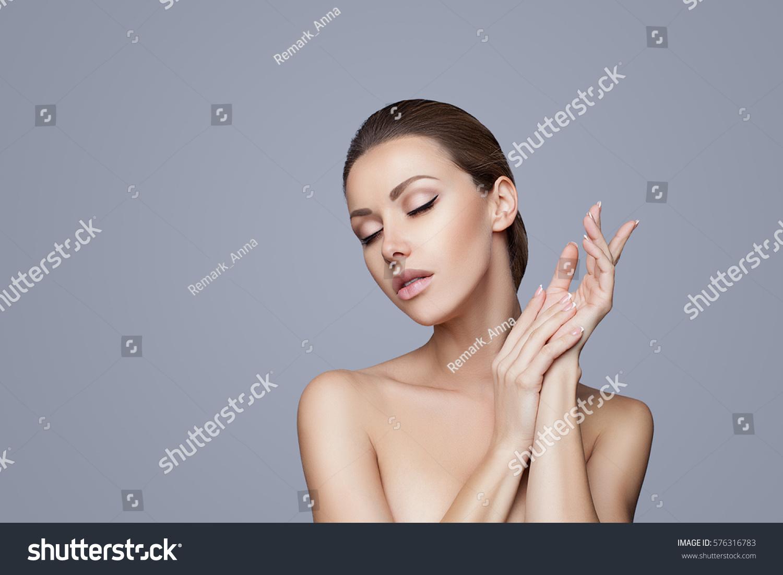 Beautiful woman face close studio on stock photo 576316783 for A fresh start beauty salon