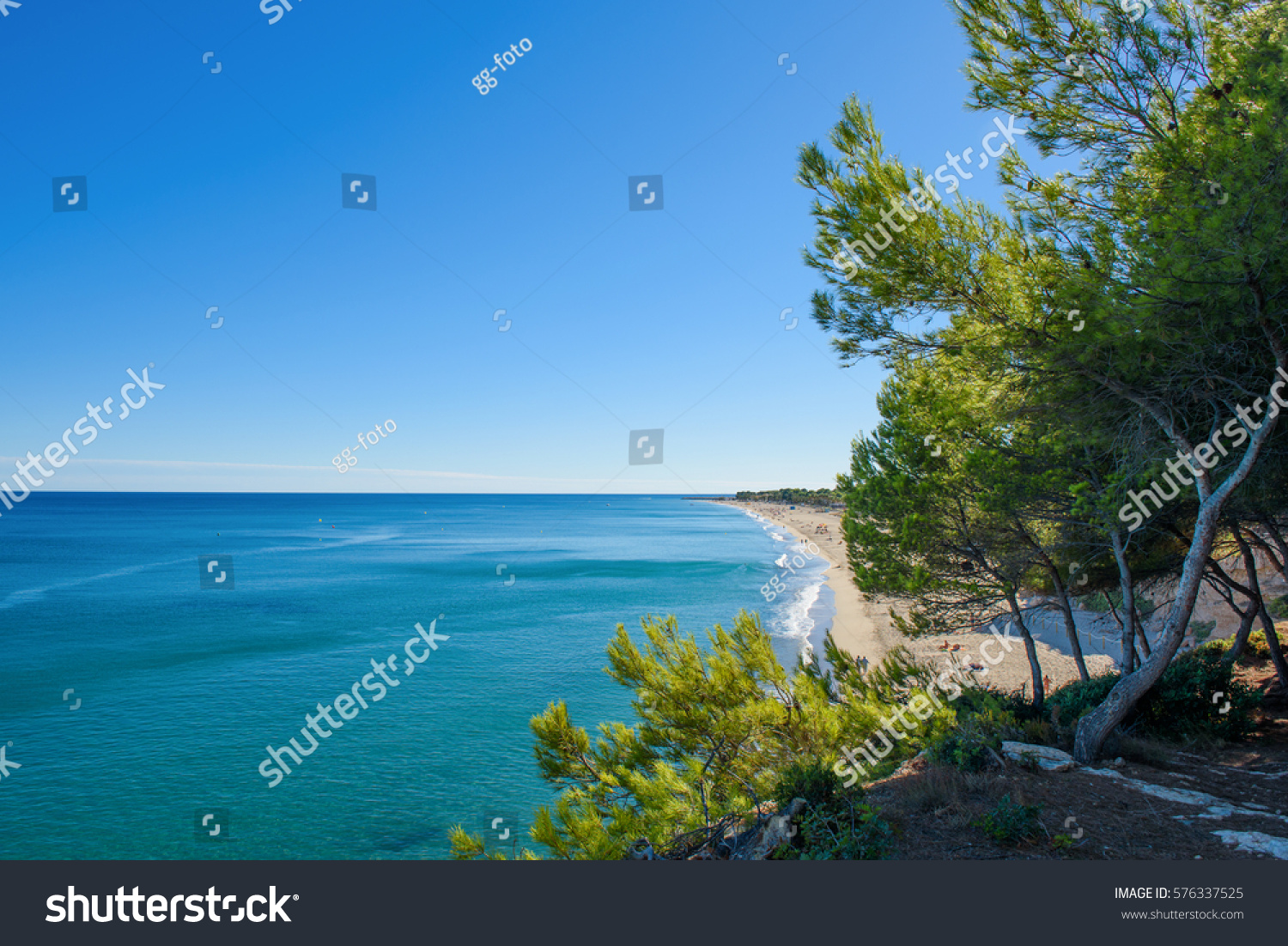 Beach Miami Playa Spain Summertime Holidays Stock Photo
