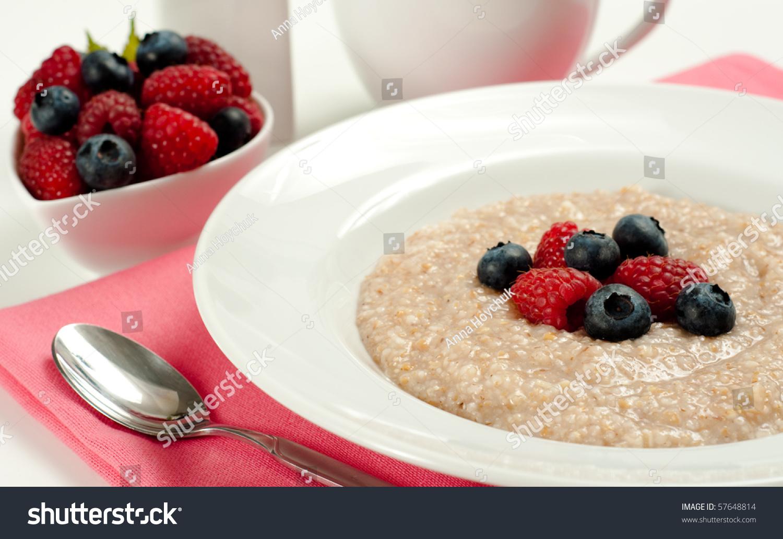Hot seven grain cereal fresh berries stock photo royalty free hot seven grain cereal with fresh berries ccuart Choice Image