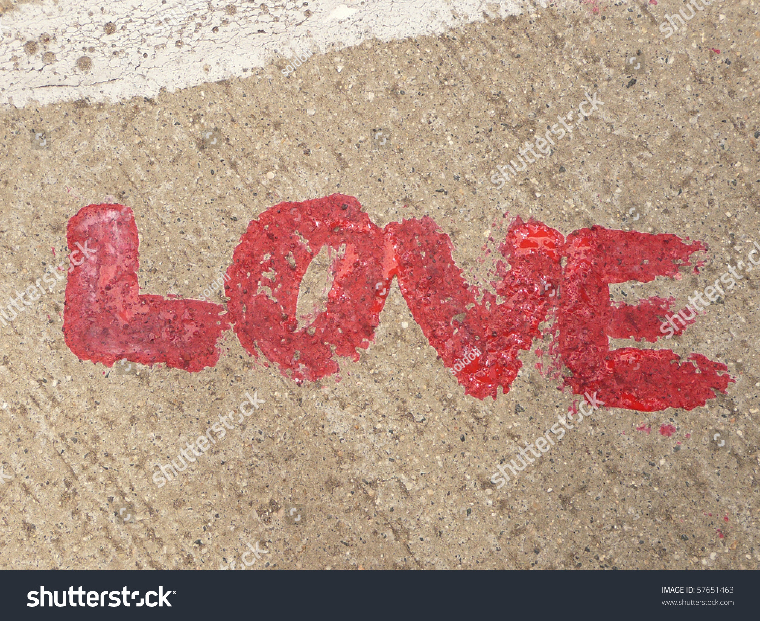 Red Love Letter On The Ground Stock Photo 57651463 ...