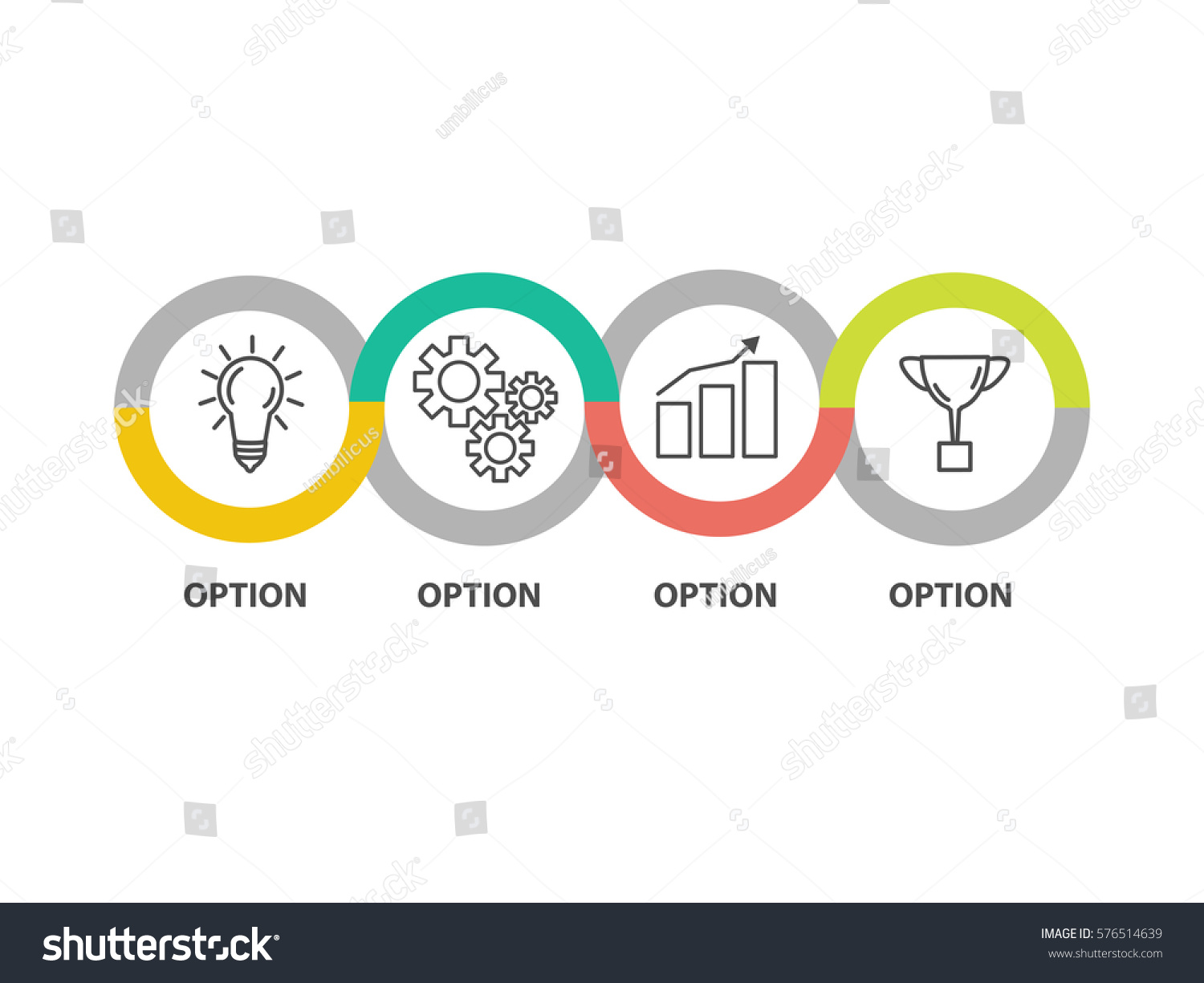 Infographic Template Business Concept Diagram Idea Stock Vector ...