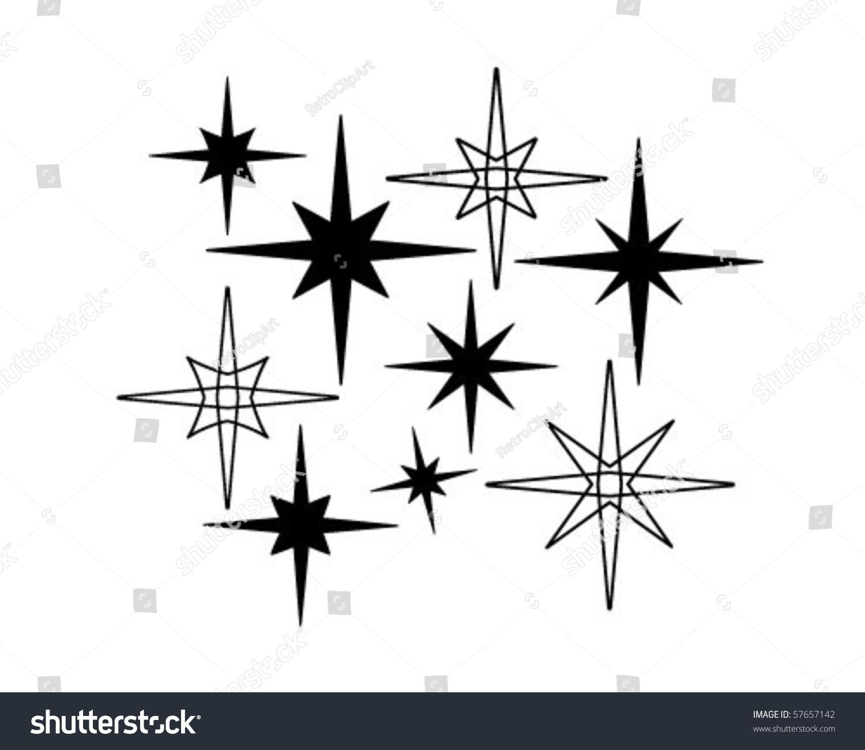 Retro Stars 7 - Retro Clip Art Stock Vector 57657142 ...