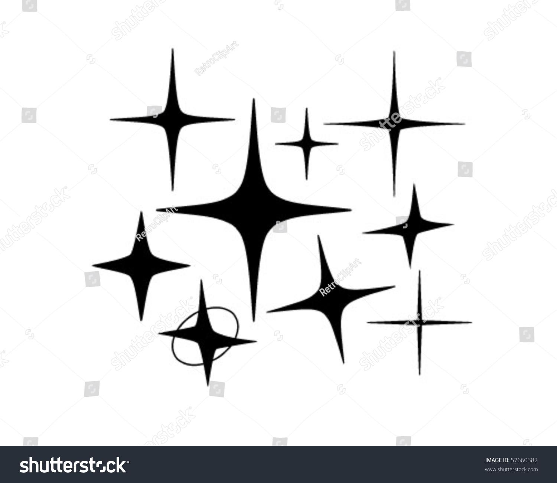 Retro Stars 5 Retro Clip Art Stock Vector 57660382 ...