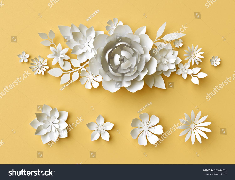 3 D Render Digital Illustration White Paper Stock Illustration ...