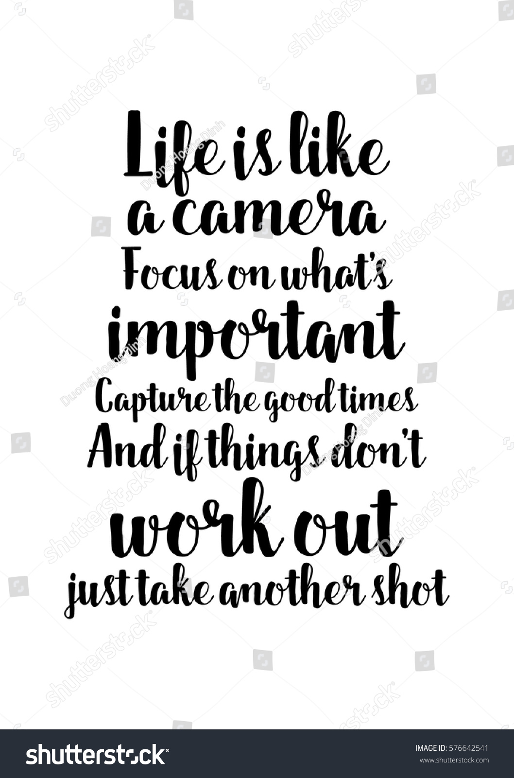 Quotes About Whats Important In Life Amusing Isolated Calligraphy On White Background Quote Stock Vector