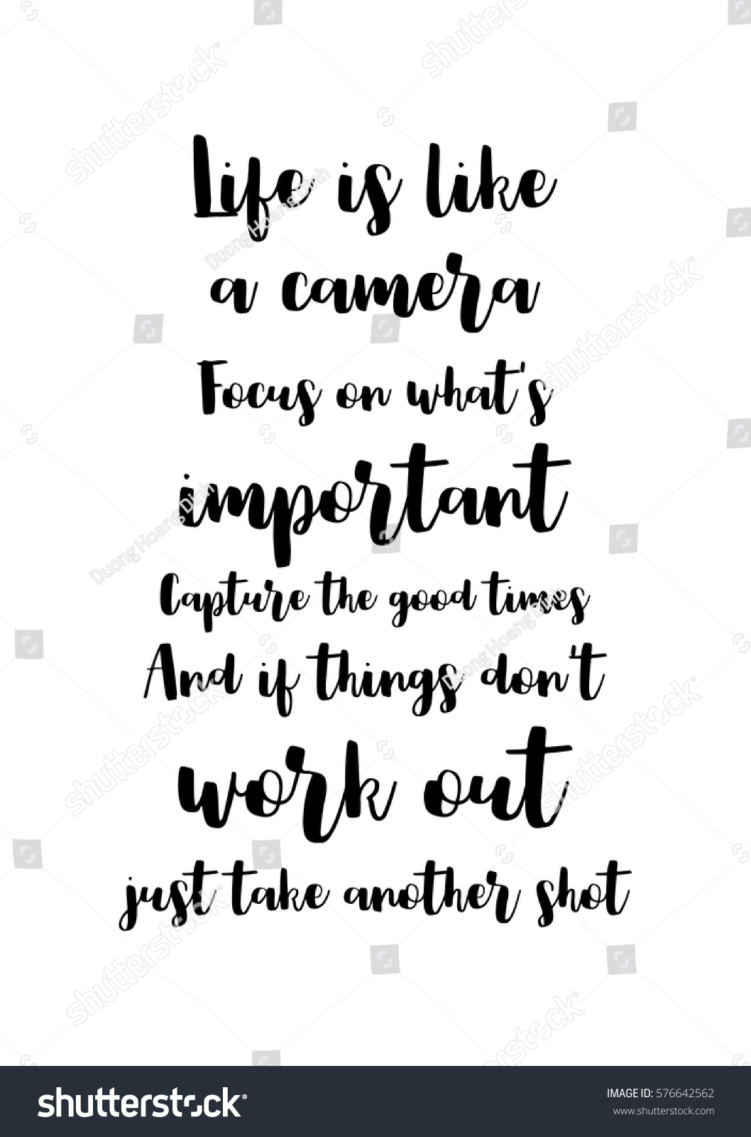 Quotes About Whats Important In Life Isolated Calligraphy On White Background Quote Stock Vector