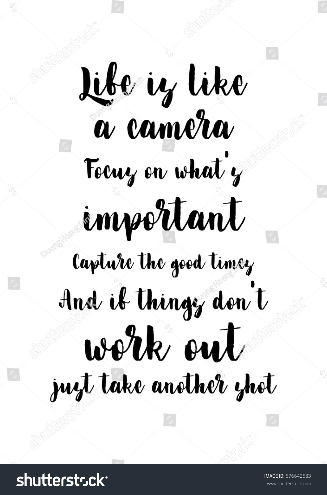 Quotes About Whats Important In Life Simple Isolated Calligraphy On White Background Quote Stock Vector