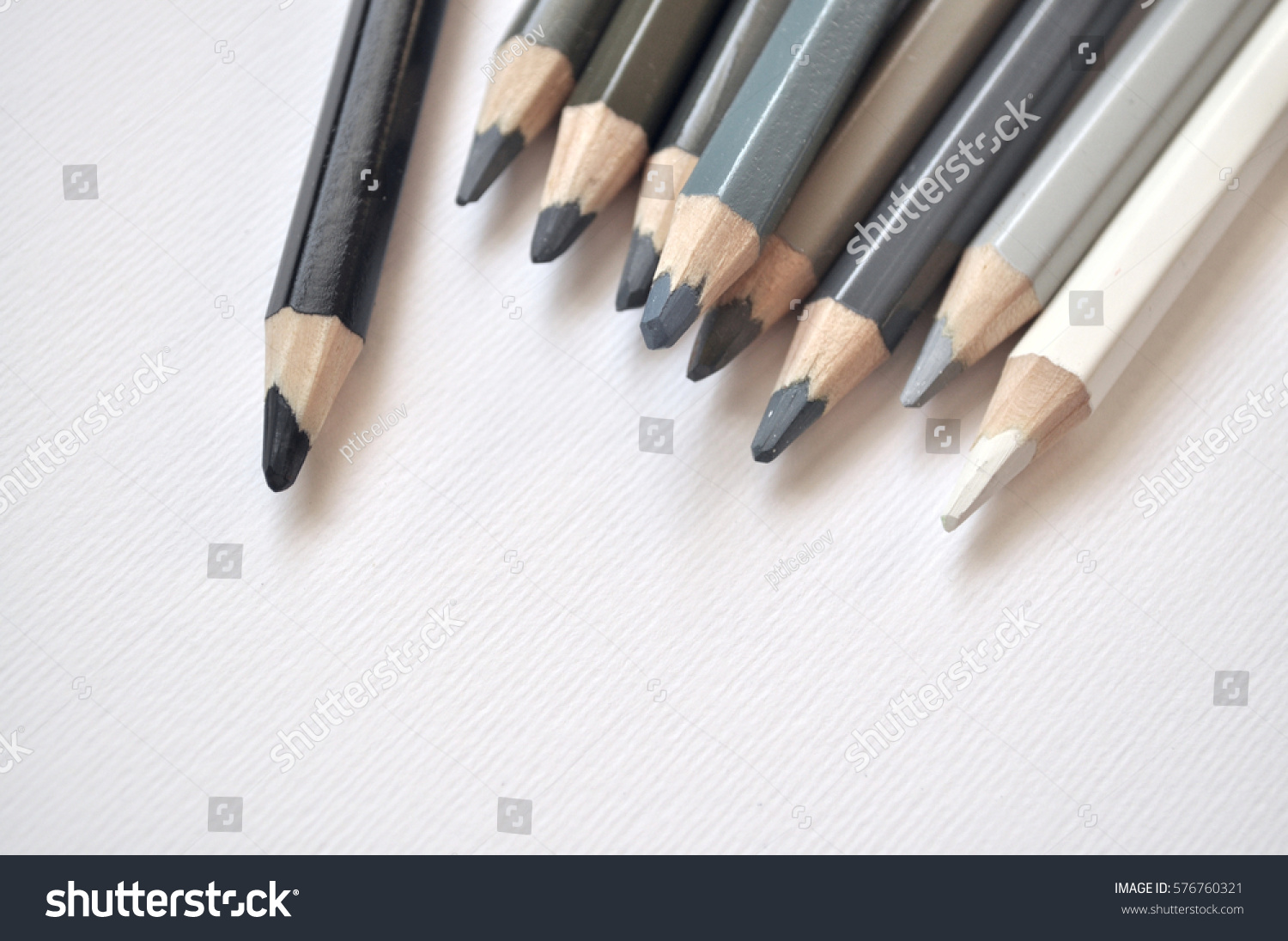 Different shades gray pencils stock photo edit now 576760321