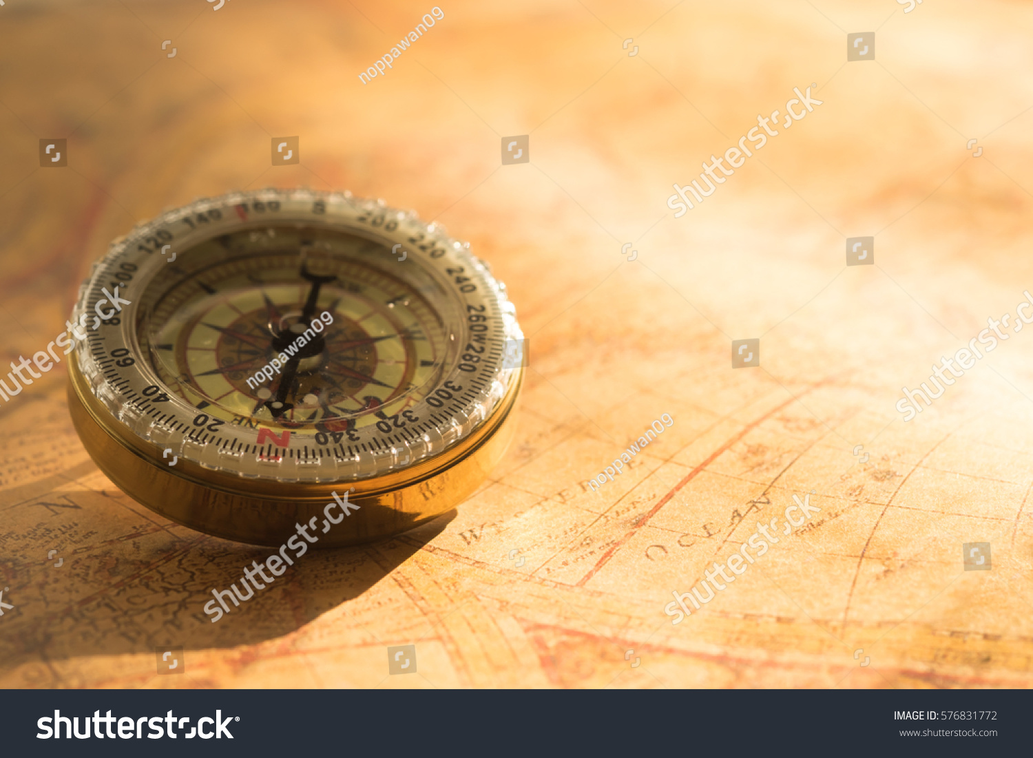 Vintage compass on old map ez canvas gumiabroncs Image collections