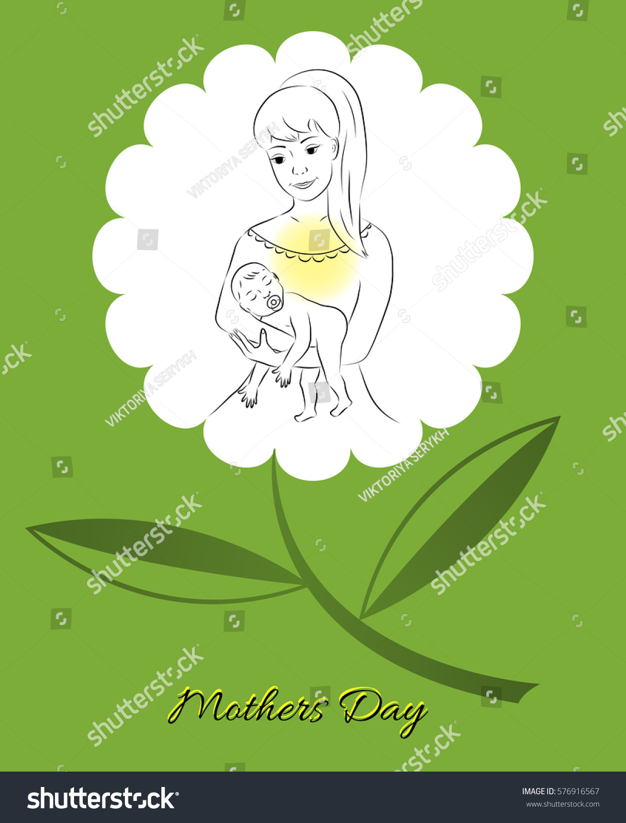 Postcard Mothers Day Greetings Mom Congratulations