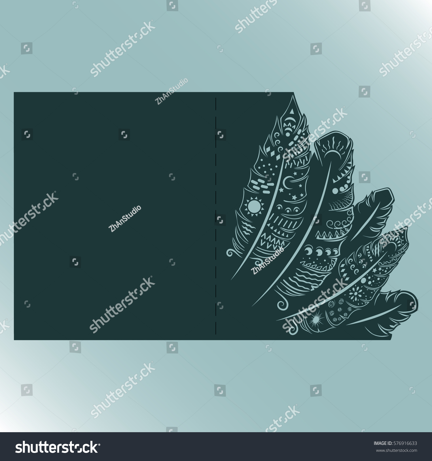 Wedding Invitation Greeting Card Feather Envelope Stock Photo (Photo ...