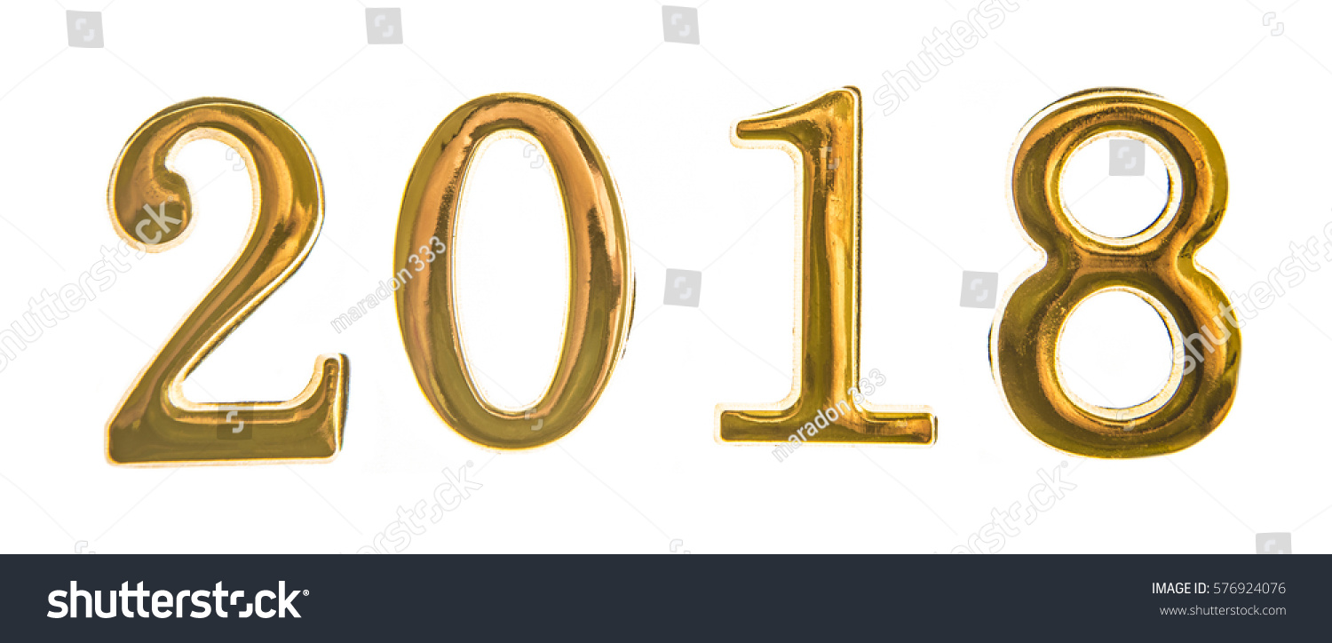 2018 Happy New Year Sign Symbol Stock Photo 576924076