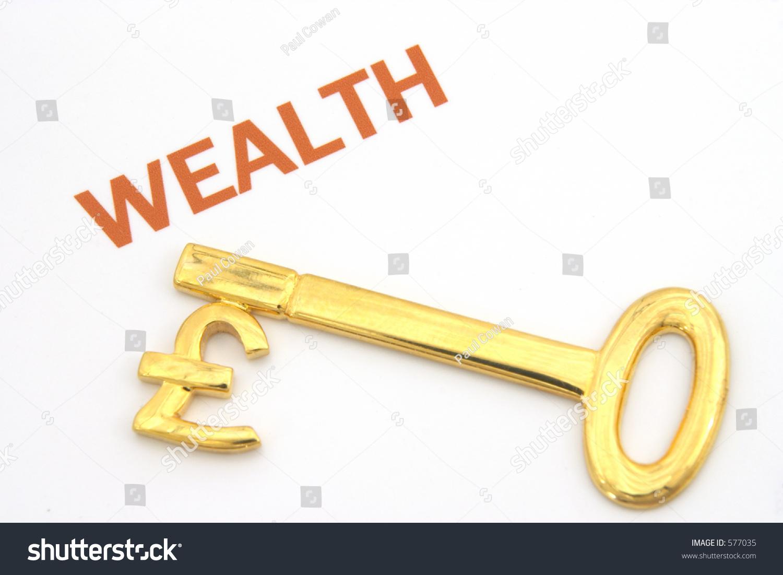 Gold Key Pound Symbol On Next Stock Photo Edit Now 577035
