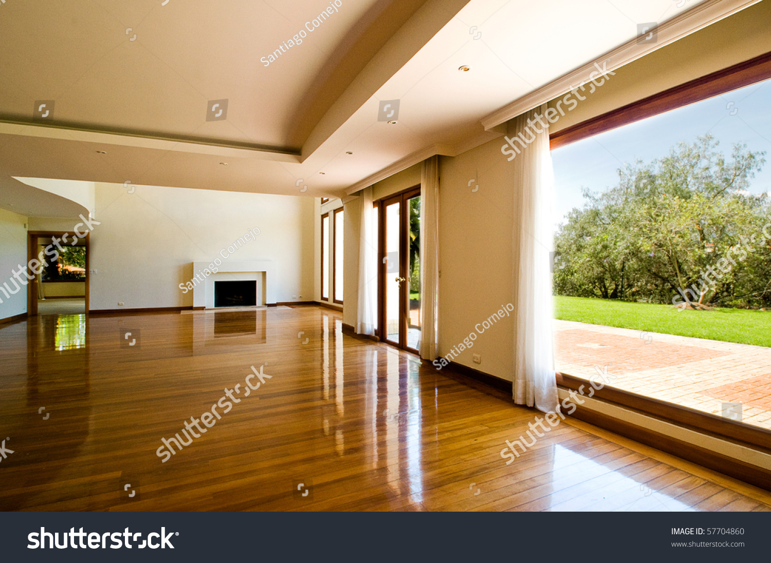 empty big living room stock photo 57704860 - shutterstock