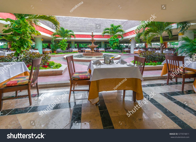 Interior Caribbean Tropical Restaurant Stock Photo Edit Now 577074811