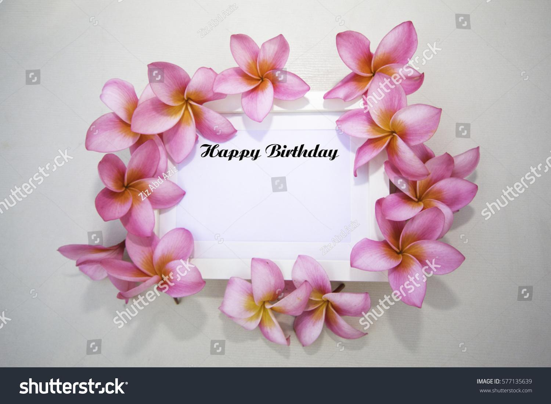 Happy birthday word on background flower stock photo image happy birthday word on the background of flower arrangement izmirmasajfo