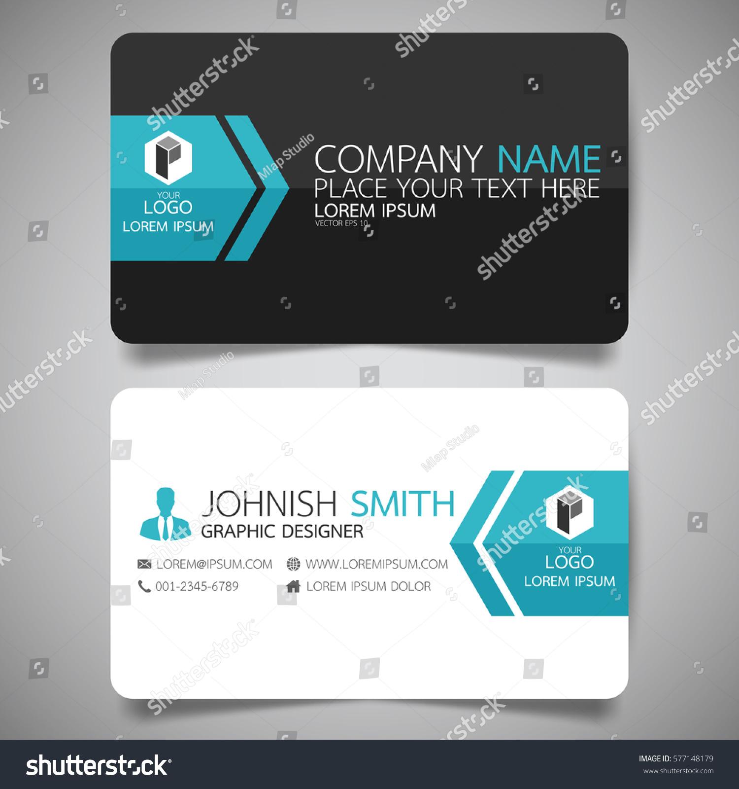 Blue Modern Creative Business Card Name Stock Vector 577148179 ...