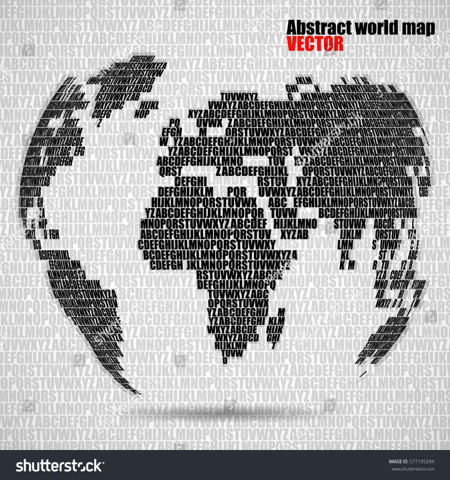Abstract world map letters english alphabet vector de stock577195294 abstract world map letters english alphabet vector de stock577195294 shutterstock gumiabroncs Choice Image